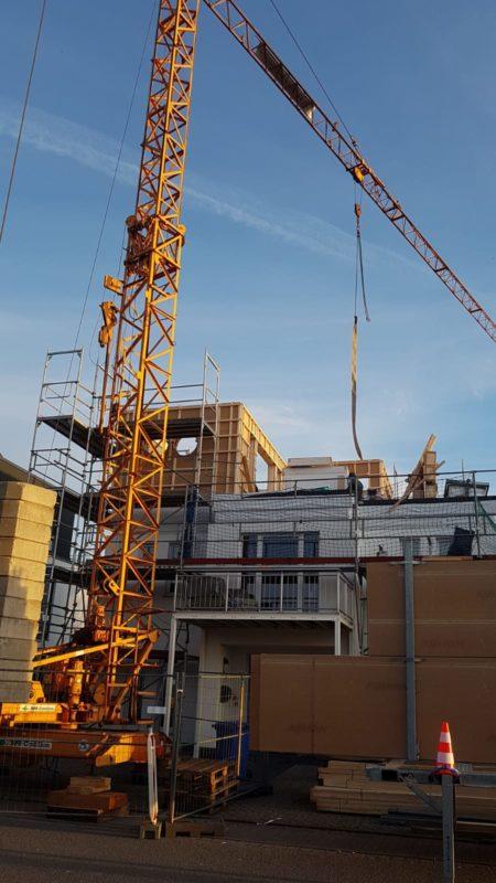 Neues Geschoss auf bestehenden Gebäude
